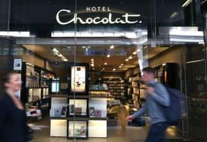 A Hotel Chocolat shop in Victoria, London.