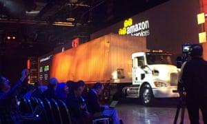The Amazon 'Snowmobile'.