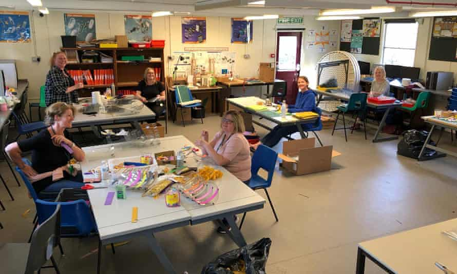 Staff and students at Chatham and Clarendon Grammar School make visors for healthcare workers.