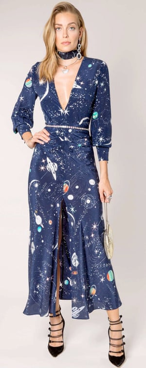 Constellation print dress by Rexo