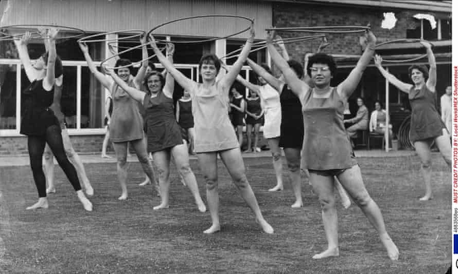 A keep fit class at Impington in 1965.
