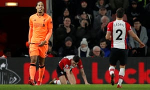 Virgil Van Dijk Grins In The Face Of Fans Fury On Happy Return To Southampton Stuart James Football The Guardian
