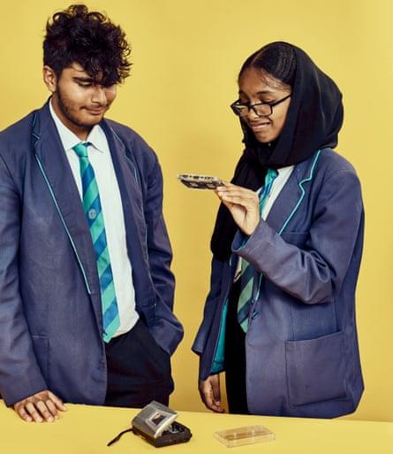 Tanu and Najaat try the Sony Walkman