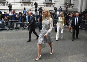 Ivanka Trump and Woody Johnson, the US ambassador to the UK, arrive at 10 Downing Street