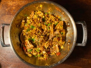 Meera Sodha's turkey curry is 'more interesting than your traditional bubble and squeak'.