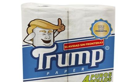 An illustration of the toilet paper released by Antonio Battaglia. The product falls outside the sectors in which the Trump Organization has trademarked the name.
