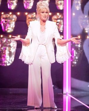 Joanna Lumley onstage.