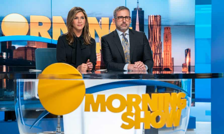 The Morning Show, with Jennifer Aniston and Steve Carell.