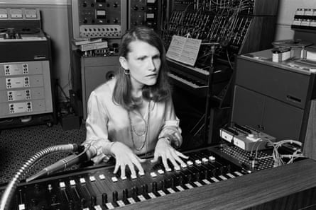 Wendy Carlos in her New York recording studio in 1979.