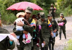 The advent of peace in Colombia meant women from the Farc guerrilla army were able to celebrate International Women's Day for the first time