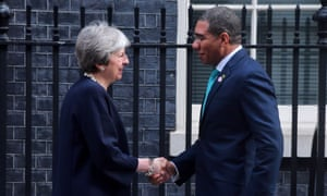 Andrew Holness meets Theresa May
