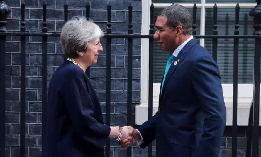 Prime Minister of Jamaica Andrew Holness meets Theresa May in London.