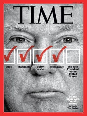 Donald Trump, on the cover of TIME.