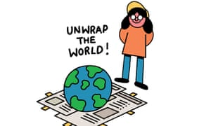 Unwrap the world illustration