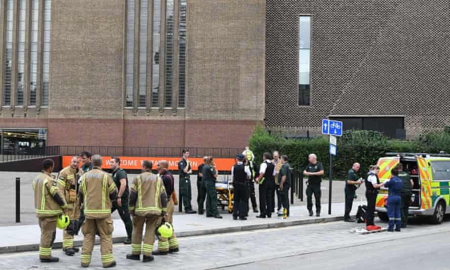 Police, ambulance and fire crews