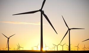 Whitlee wind farm on Eaglesham Moor, just south of Glasgow