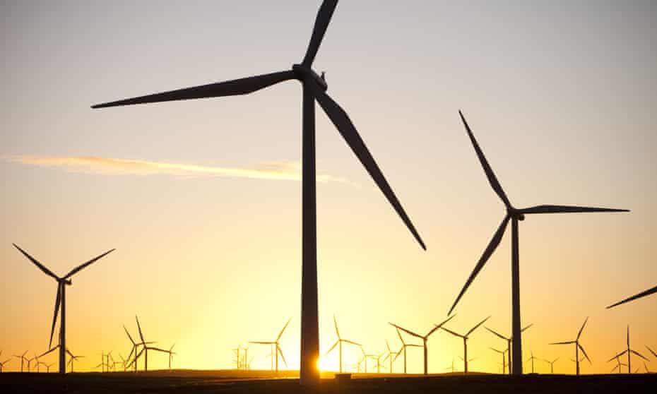 Whitlee windfarm on Eaglesham Moor just south of Glasgow.
