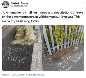 Appreciation of chalking on Twitter