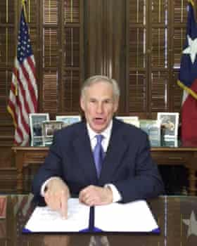 """Greg Abbott talks about a so-called """"sanctuary cities"""" ban in a Facebook Live broadcast on Sunday."""