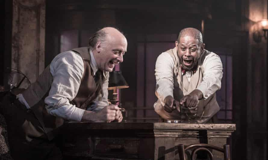 Gambling men: Frank Wood and Forest Whitaker in Hughie.