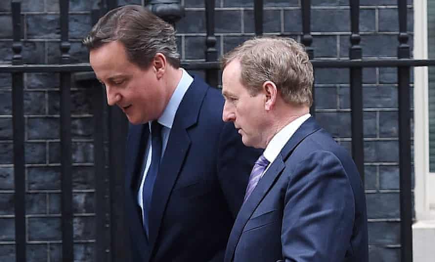 David Cameron and Enda Kenny at Number 10 Downing Street.