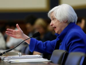 U.S. Federal Reserve Board Chair Yellen testifies at the House Financial Services Committee in WashingtonU.S. Federal Reserve Board Chair Janet Yellen testifies at the House Financial Services Committee in Washington February 10, 2016. REUTERS/Gary Cameron
