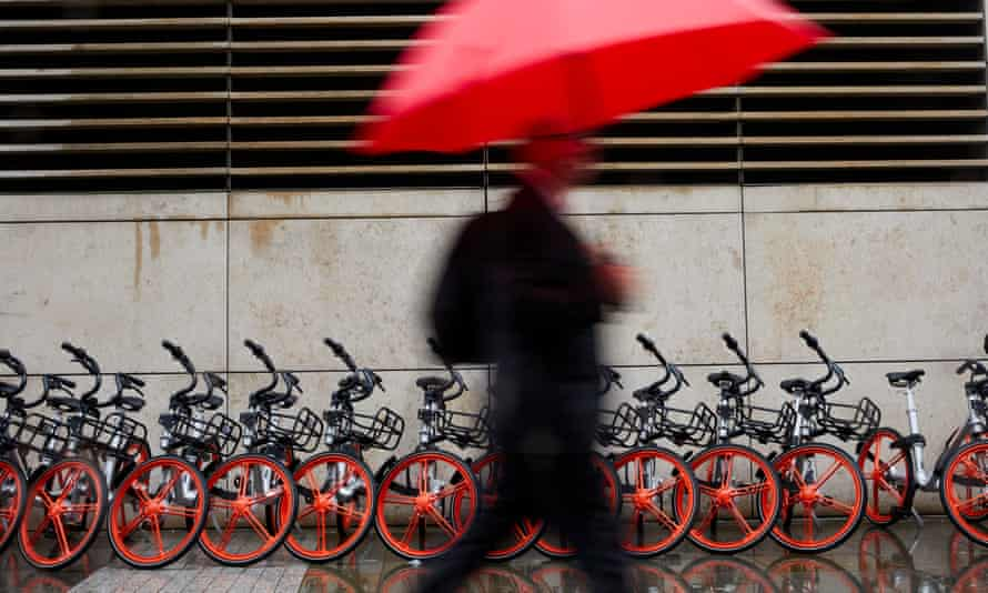 Chinese firm Mobike run their dockless cycle sharing scheme in Manchester.