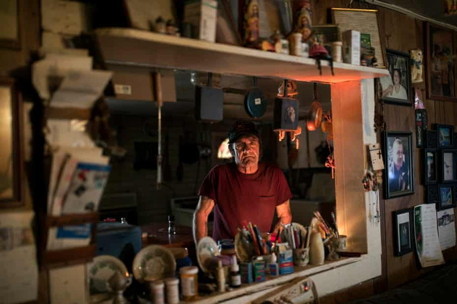 Jimmy Shreck in his kitchen in East Jackson. Shreck identifies as white.