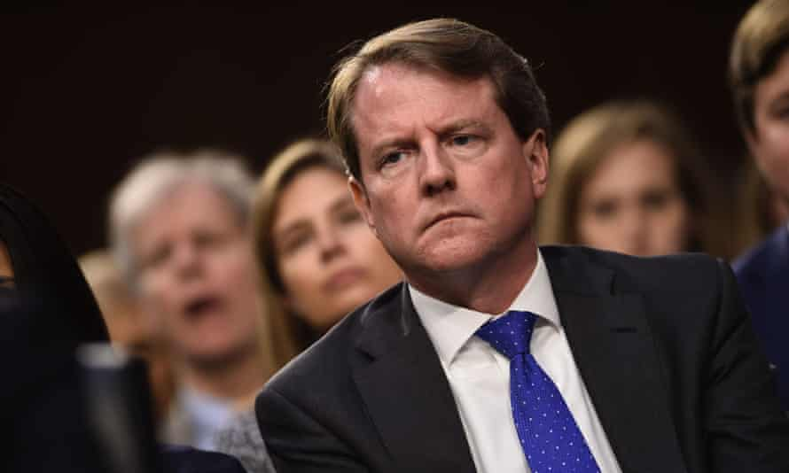 Don McGahn has been subpoenaed to appear before the House judiciary committee on Tuesday.