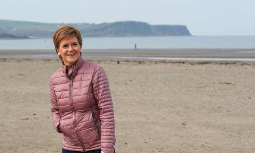 SNP leader Nicola Sturgeon on the campaign trail in Ayr this week.