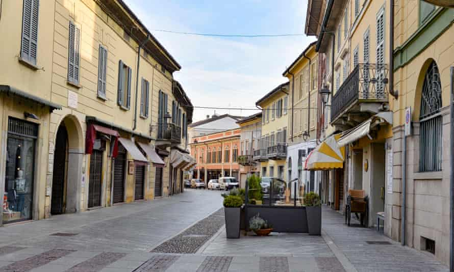 Codogno, in the Lombardy region of Italy: the city centre is said to be like a 'ghost town'.
