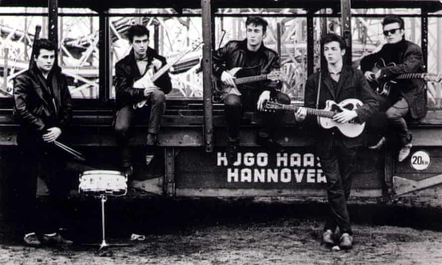 Kirchherr photo of Beatles in 1960