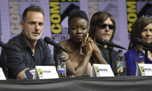 Andrew Lincoln, Danai Gurira, Norman Reedus and Lauren Cohan in The Walking Dead.
