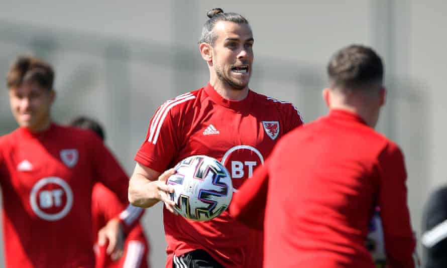 Gareth Bale during a Wales training session on Monday. He has one more year on his contract at Real Madrid.