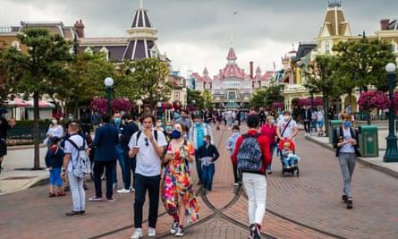 Visitors at Disneyland Paris