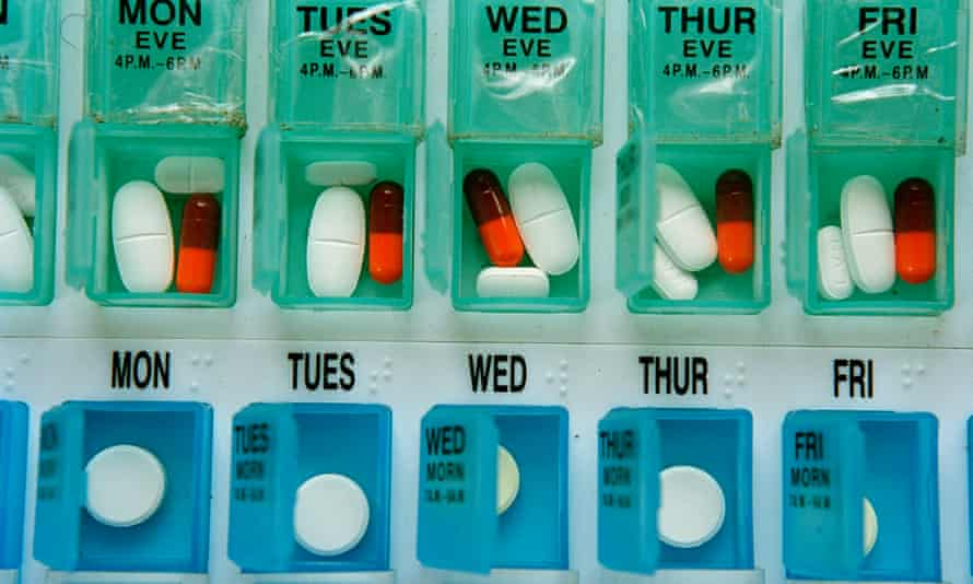Antiretroviral medication is seen in Lusikisiki, South Africa.