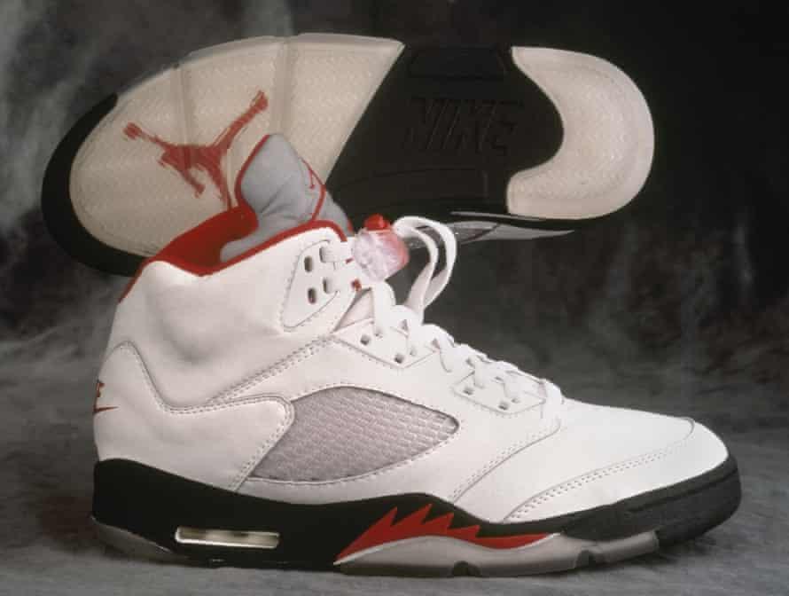 Nike Air Jordan V, originally released in 1990.