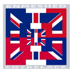 Brian Eno's image merges the union flag and the French tricolour