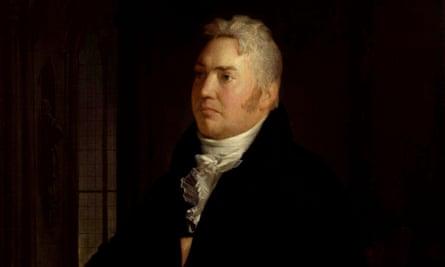 Detail from portrait of Samuel Taylor Coleridge by Washington Allston (1814).