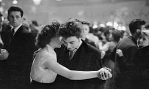 a teddy boy and girl in the Mecca Dance Hall in Tottenham, London, in 1954.