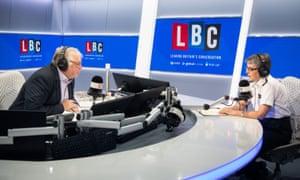 LBC presenter Nick Ferrari interviews Metropolitan Police Commissioner Cressida Dick.