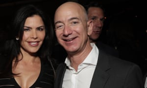 Jeff Bezos with Lauren Sanchez