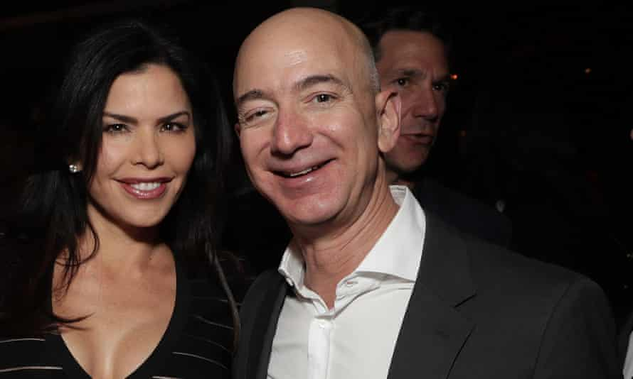 Jeff Bezos with Lauren Sanchez