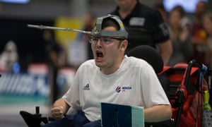 Jamie McCowan at the World Boccia Championships in Liverpool.