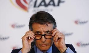 The IAAF president, Sebastian Coe