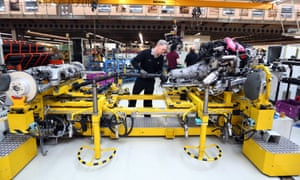 An employee at the Rolls-Royce production plant in Goodwood.