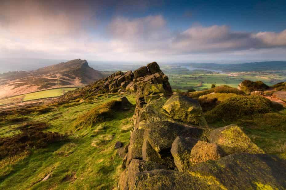 The Roaches, Peak District, on a very blustery and changeable morning. When the light broke it didn't last long