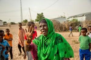 Cibaado Ismail, 80, in Rugta camp