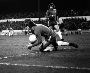 Chelsea's David Webb collects the ball during the match against Ipswich Town at Stamford Bridge in December 1971.