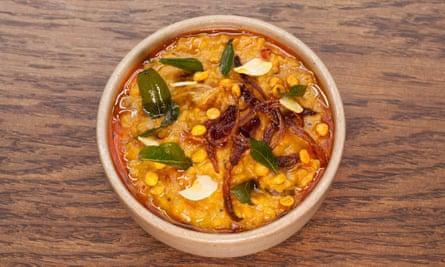 'Less soup than fiery stew': dal.